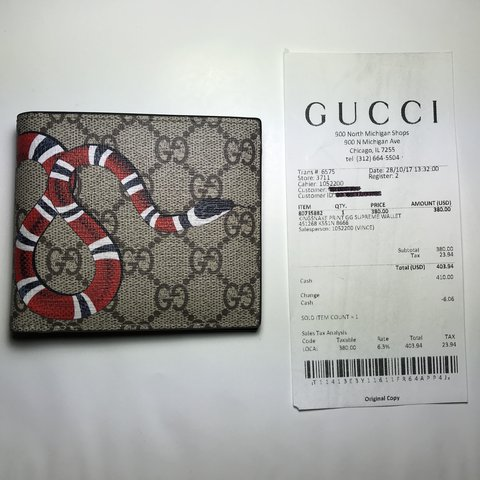 babd72d6267f4f ON HOLD DO NOT PURCHASE** AUTHENTIC - GUCCI KINGSNAKE GG - - Depop