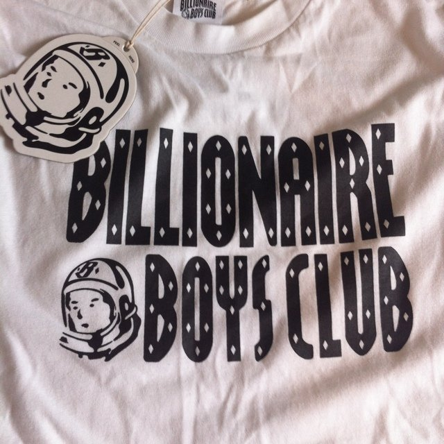 9b1a06ee7 Billionaire boys club basic logo tee bbc with spaceman in L - Depop
