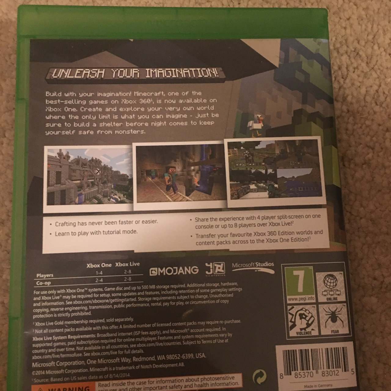 Minecraft Xbox One edition in great condition and    - Depop
