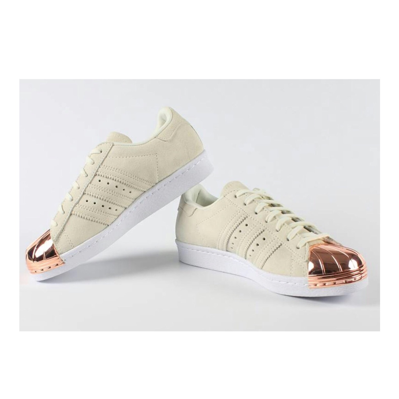 adidas superstar 80s rose gold metal toe