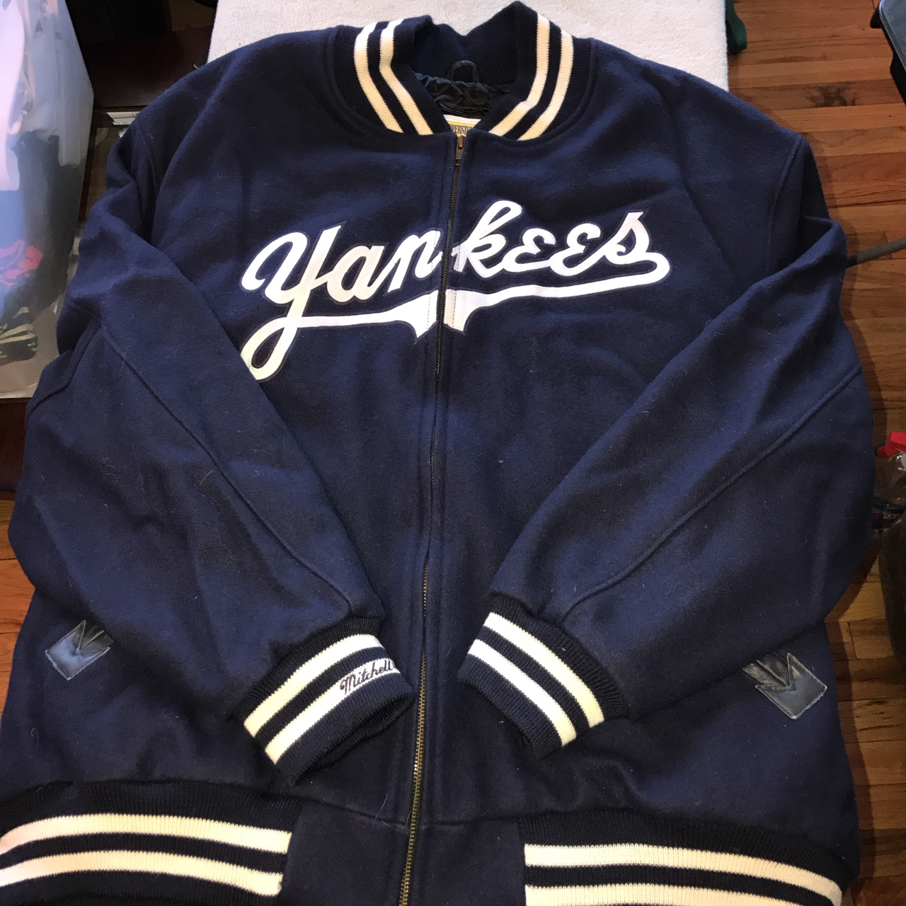 quality design 38256 8a43a Mitchell & ness Cooperstown NEW YORK YANKEES Jacket ...