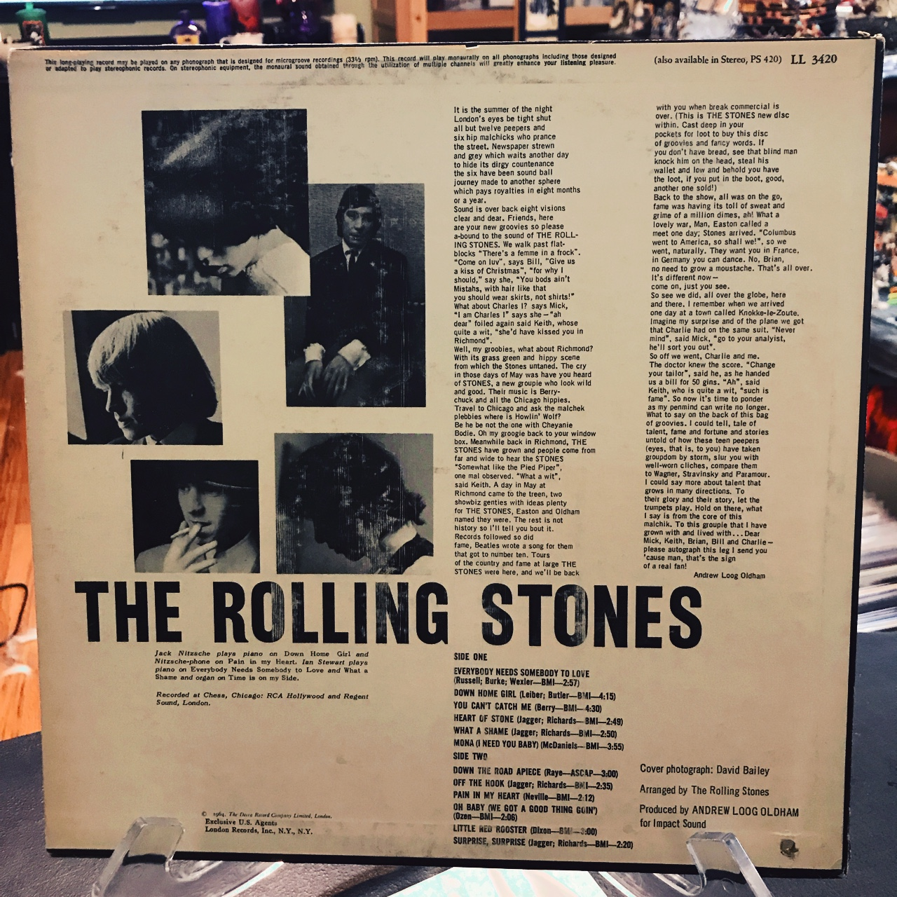 1964 Rolling Stones NOW Record #jagger #stones    - Depop