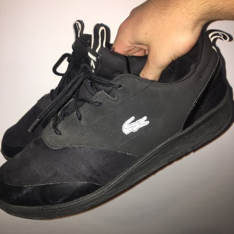 505cc4cacbff Lacoste Black Lite Trainers. Size 7. Good condition. Open to - Depop