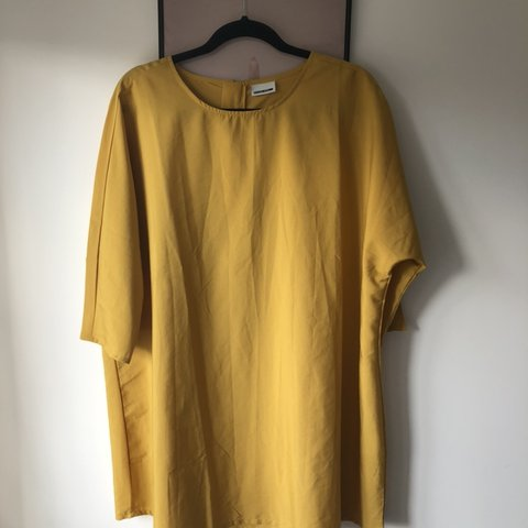 886447f21cbe @sjhatt22. 2 days ago. Stockport, United Kingdom. Noisy may mustard colour tshirt  dress. Loose fit ...