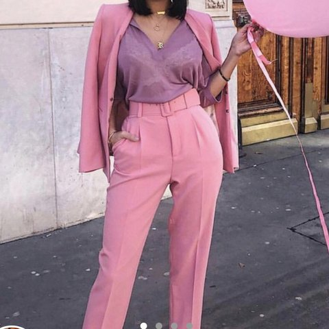 7a0c7ac5 @sophb_3. 10 months ago. Beaconsfield, United Kingdom. Zara Pink Trousers  with belt size ...