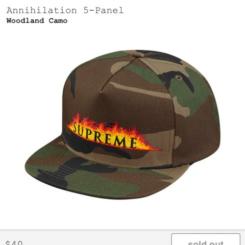 efa356be389 Supreme camo hat 50 shipped It is being shipped from so as - Depop