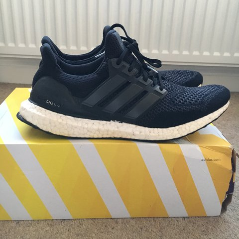 b947d0d271761 Adidas Ultra Boost 1.0- core black colourway. UK 11 US but - Depop