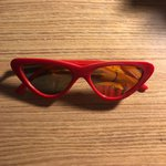 75314cb1893 lil red cat eye sunglasses. cute   v similar to le specs x - Depop