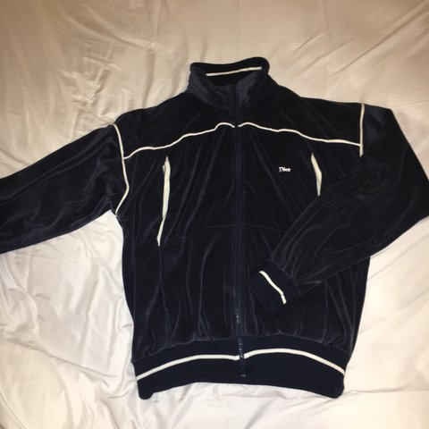 7bb53c9d6140 Christian Dior Monsieur Velour Tracksuit Navy Blue  Perfect - Depop