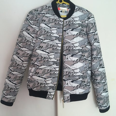 1c7bbf5d0 Selling this beautiful Ted Baker Landscape Bomber jacket in - Depop
