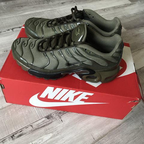 c628c252bd Oliver green Air Max Plus Worn once $160 5.5 youth=7/7.5 - Depop