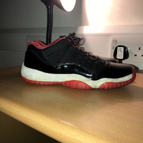 c1f8802a42d Jordan 11 breds, very hype and wavy shoe. Mens Size UK6. cos - Depop