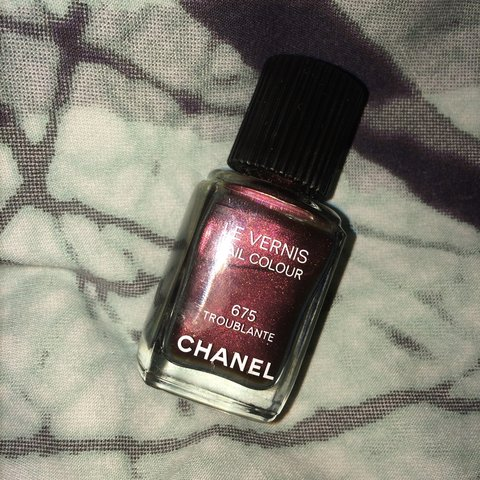 Chanel 675 nail polish in a mix of holographic deep tones. - Depop
