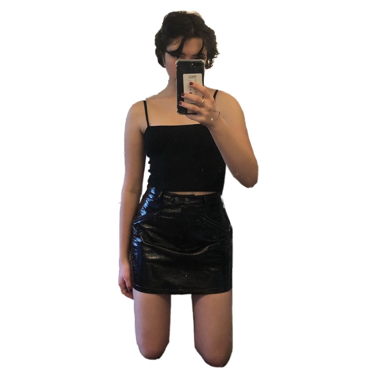 0f2dac3ef2 Faux Patent Leather Skirt