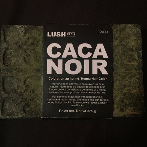 Caca Noir From Lush Henna Hair Color Original Price Is 30 Depop