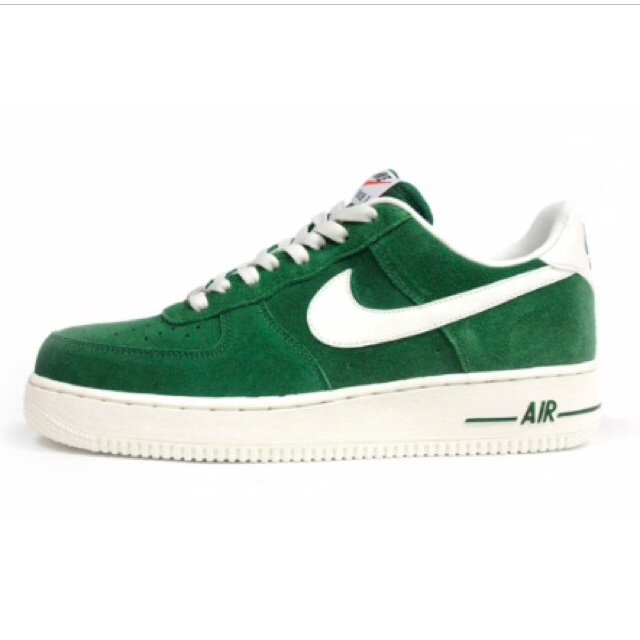 newest f0ae3 8e512  brittneysavanna. 5 years ago. London, UK. Nike Air Force ones trainers  green ...