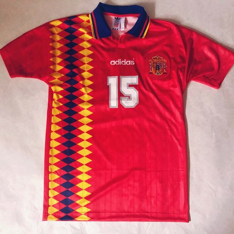 dee81aae9e8 @nothingsour. 8 months ago. Los Angeles, United States. Adidas ORIGINALS  Spain 1994 World Cup Jersey Remade