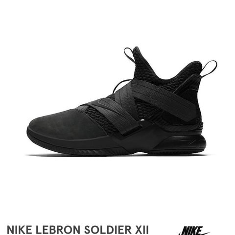 edbe2224c1adc Black Brand new in the box nike lebron james soldier XII sfg - Depop