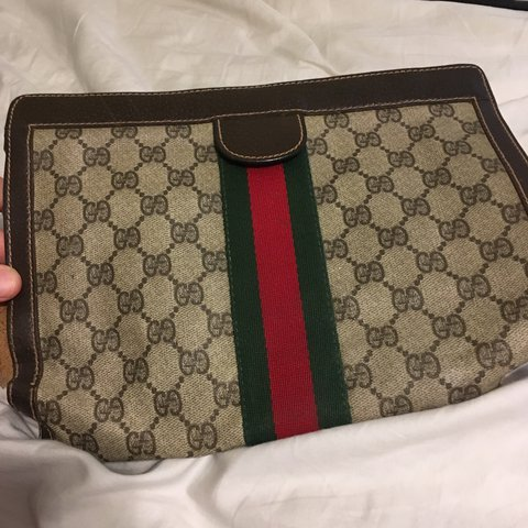 c99877dde Authentic Vintage Gucci clutch bag! This is from like the of - Depop