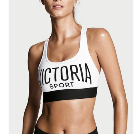 216bfc8d37ad5 White and black Victoria secret sports bra