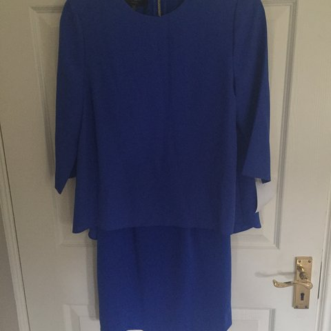 de0e9aaee Ted baker never worn cornflower blue dress. Fitted dress 1 - Depop