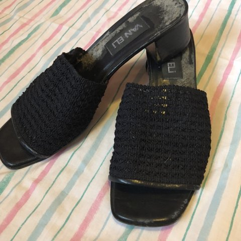 0e45ed3c9f9 Vintage Van Eli mules from the 90s!! these really aren t in - Depop