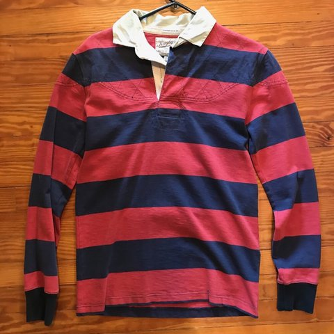56733cb9ba0 @mamimochi. last year. Willow Street, United States. Polo Ralph Lauren  rugby shirt in red/navy ...