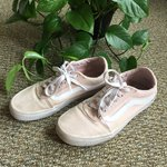 5324568e38 Old school baby pink vans. Only worn once as bought in wrong - Depop