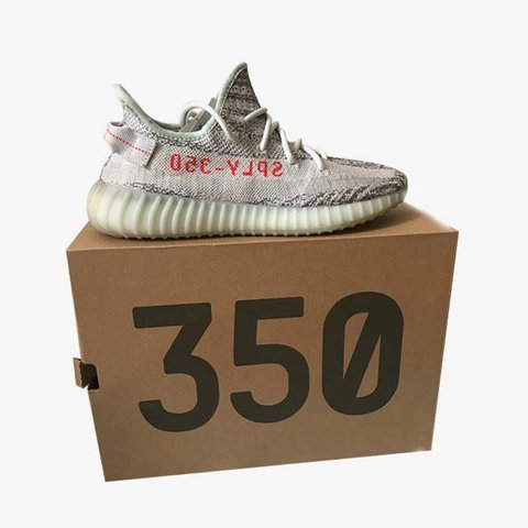 8f9ad9c87 Yeezy Blue Tint 350s. D S purchased at round two. Im getting - Depop