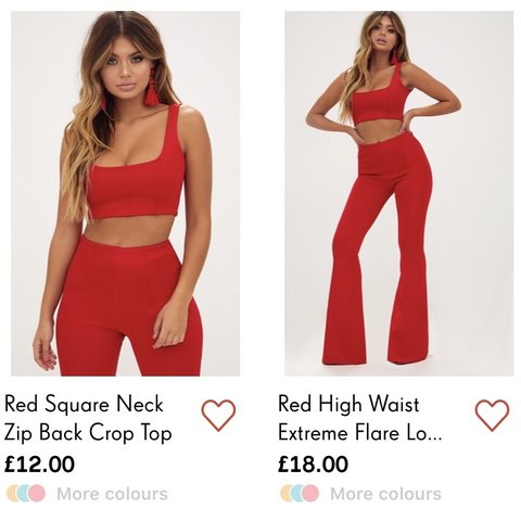 aae6ebc6452 PLT Red Two Piece ❤ Size 10 Pants, Size 8 Top (still has on - Depop
