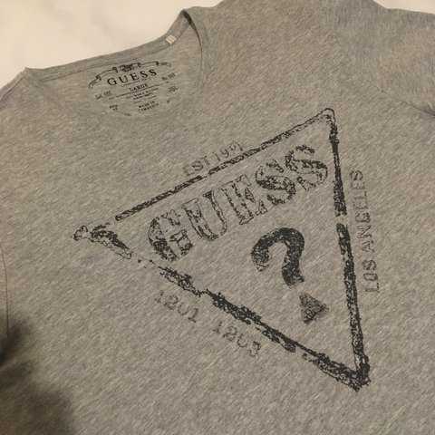 83259e048be7 Men's Grey Guess T-Shirt in Size Medium - Short is P&P in no - Depop