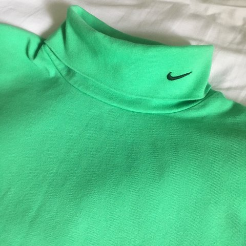 34664261 @louisretro. 7 months ago. Oxted, United Kingdom. Retro Green Nike Long  Sleeve Roll Neck T-Shirt in Men's Size XXL