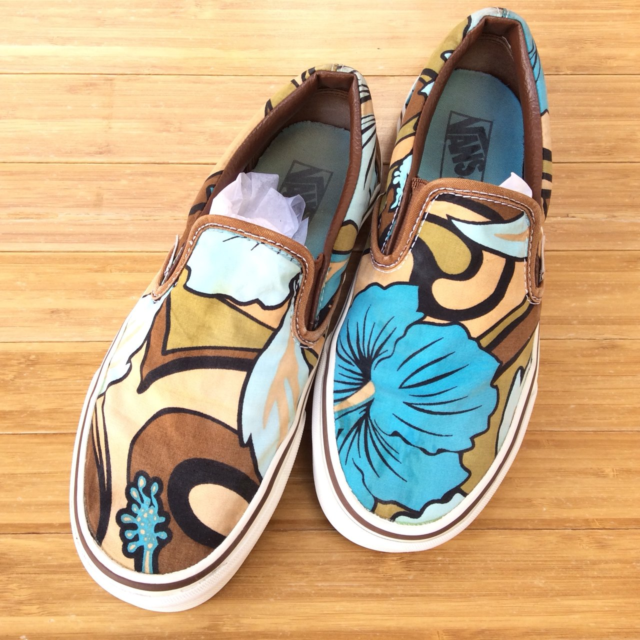 Vans Classic Slip-on Shoes Ultra Rare Hawaiian Aloha Print 66a16c077