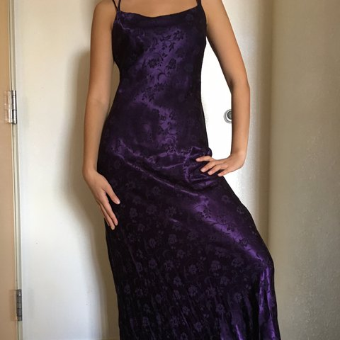 90's SATIN PROM DRESS with cute back perfect