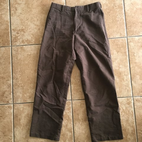 33901731 Dockers relaxed fit brown pants ~ Size 30x32 Message with - Depop