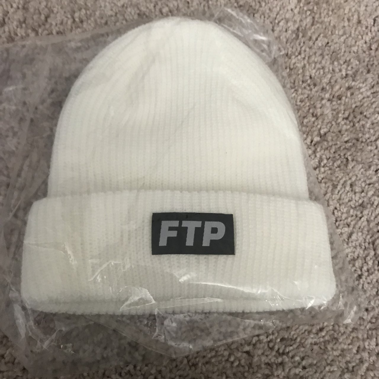 Deadstock white FTP beanie from d23feebe11a4