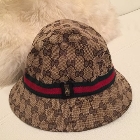 82bdc66fb9094 Authentic Gucci fedora Hat Size medium! Flex in this hat💘 - Depop