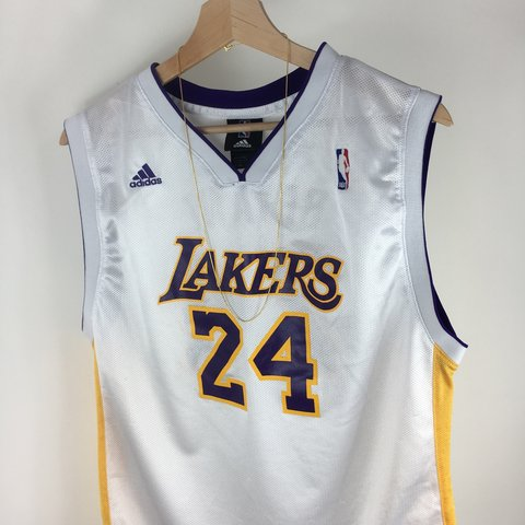 4101cf11271 Men s Adidas NBA LA Lakers Basketball Vest   Jersey   Size - - Depop