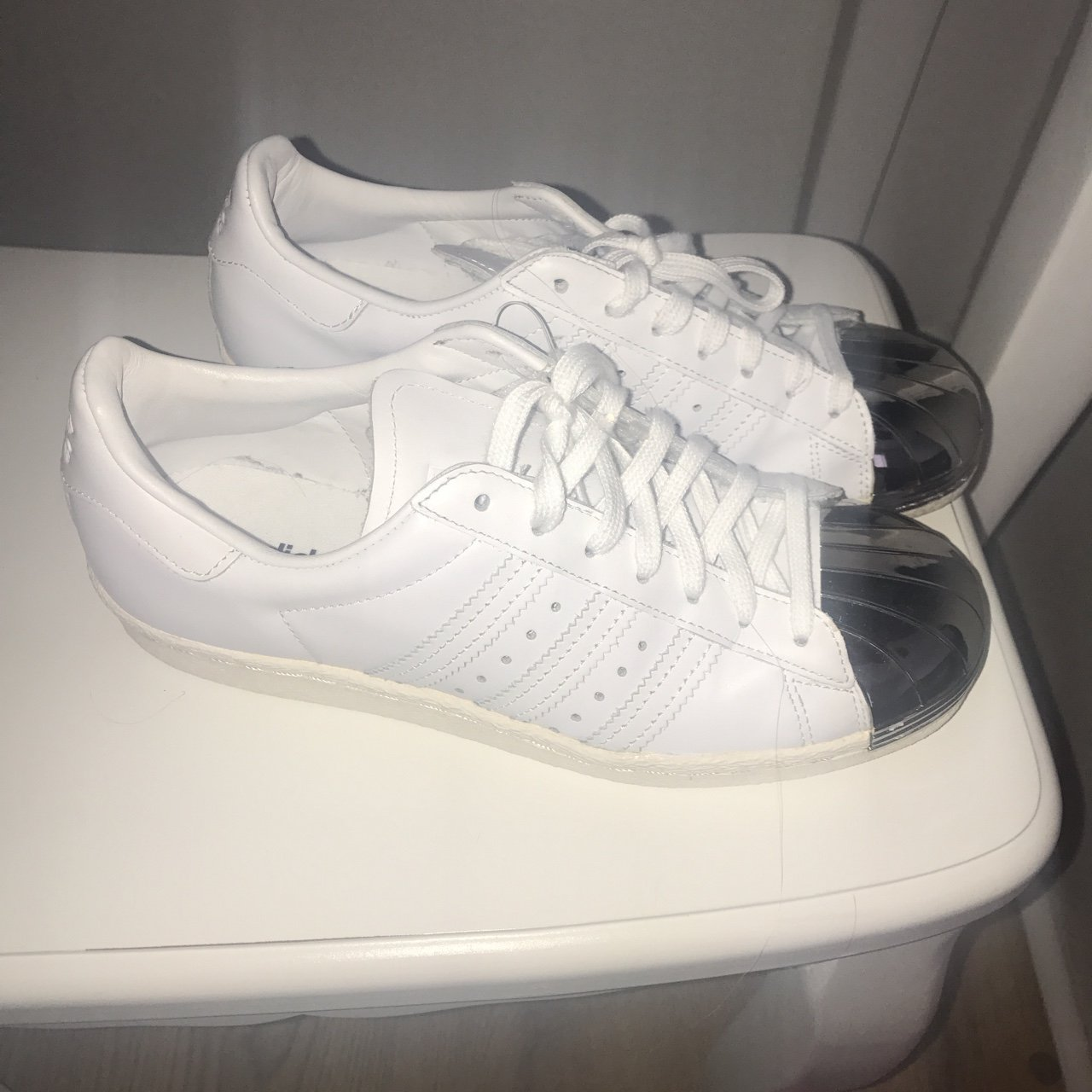 Adidas superstars. Silver toe cap. Never worn. Brand new. 4. - Depop 798cc0bc0