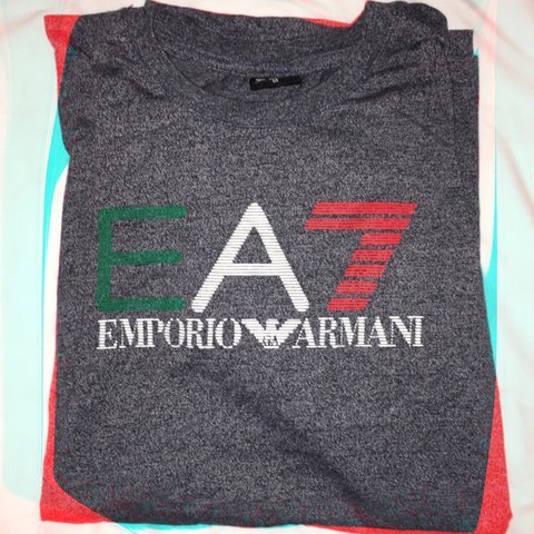 08dcf4badfb Men s Emporio Armani Tshirt in Grey- size M but comes up as - Depop