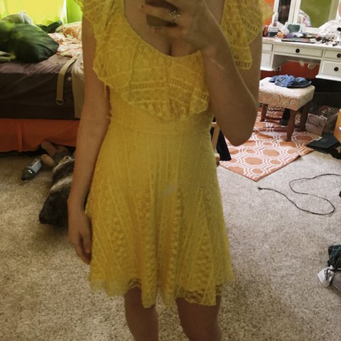 a527cd20d93 Feel like Belle in this beautiful yellow summer dress. It s - Depop