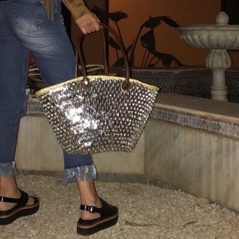 f06710821d @laurenbowers. 2 years ago. Leyland, United Kingdom. Gorgeous Silver Sequin  Detail Beach Bag ...