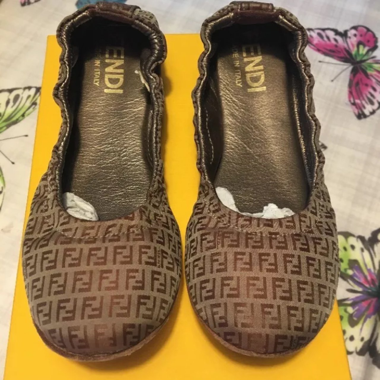 02fdc29a91bf Girls FENDI shoes size 30   UK 12 worn once! £130 rrp. - Depop