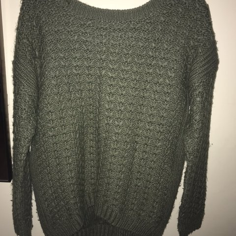 bec5759db Green cable knit jumper💫 Size small