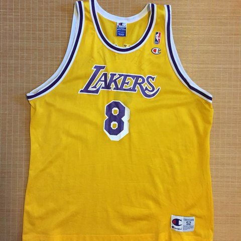 a2ff270d1336 RARE 90 S CHAMPION KOBE BRYANT  8 LAKERS JERSEY. Over all - Depop