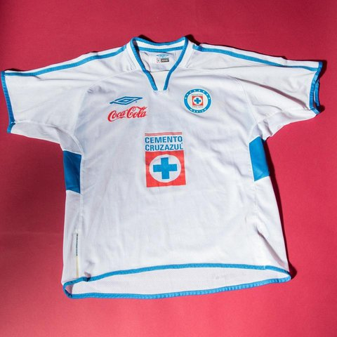 615f25df071 @diegoafra. last year. Chicago, Cook County, United States. Cruz Azul #Umbro  jersey. Mexican soccer team