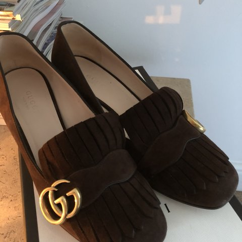 3bb1dc174e1 Beautiful Gucci marmont shoes. Size uk 4. Worn handful times - Depop