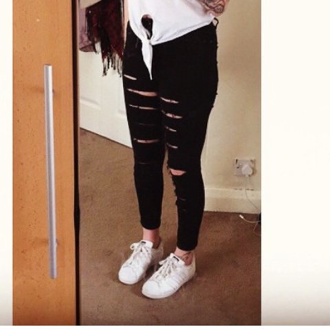 aa6bfb686c5 @jordenx. 4 years ago. Derby, Derby, UK. Black ripped topshop jeans. W28  L30(size 10)