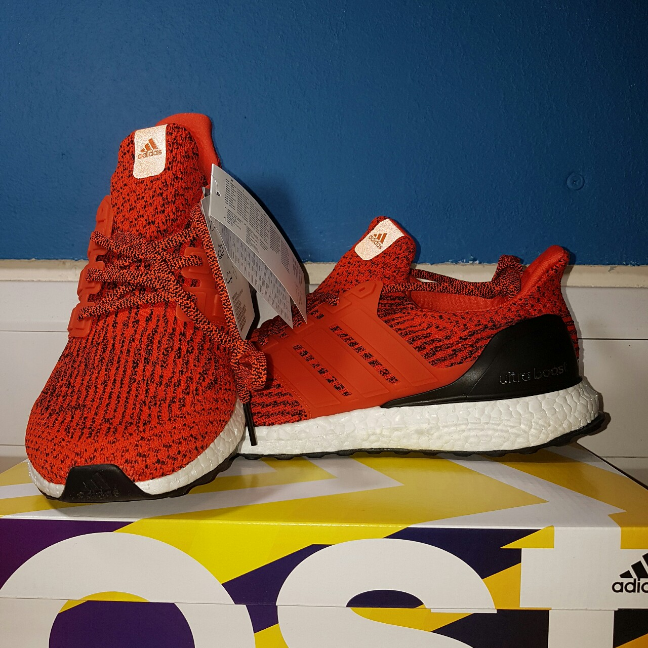 Adidas Ultra Boost 3.0 Energy & Core Black   END.