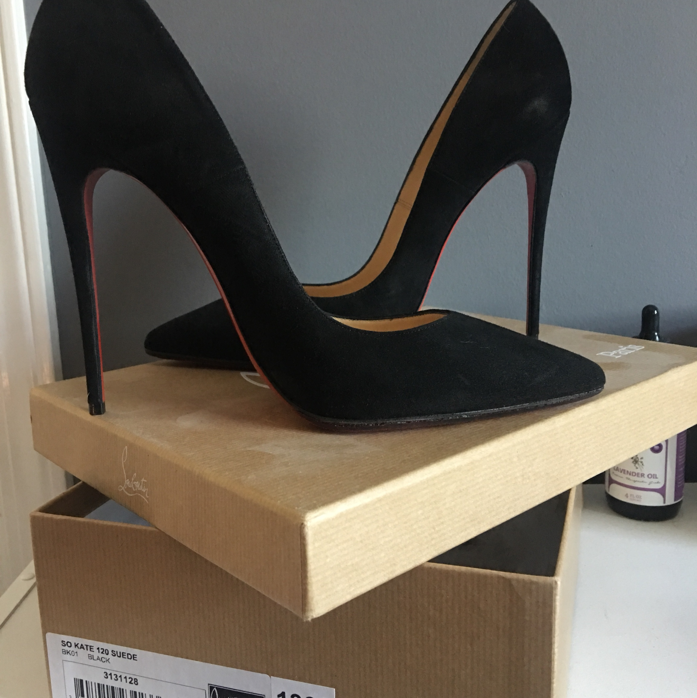 new styles 390f9 39342 Christian Louboutin So Kate 120MM BLACK SUEDE RETAIL ...